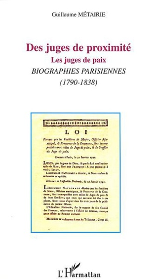 Couverture DES JUGES DE PROXIMITÉ