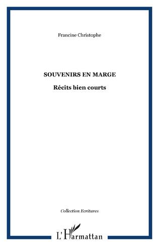 Couverture SOUVENIRS EN MARGE