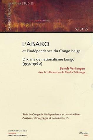 Couverture L'Abako et l'indépendance du Congo belge