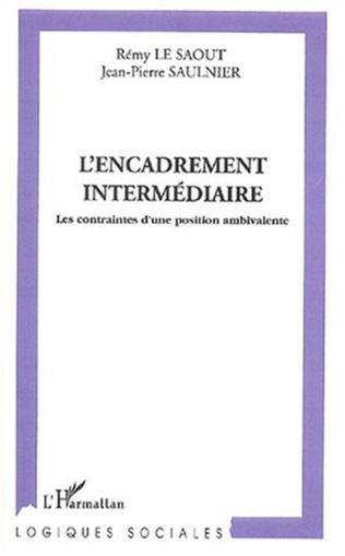 Couverture L'ENCADREMENT INTERMÉDIAIRE