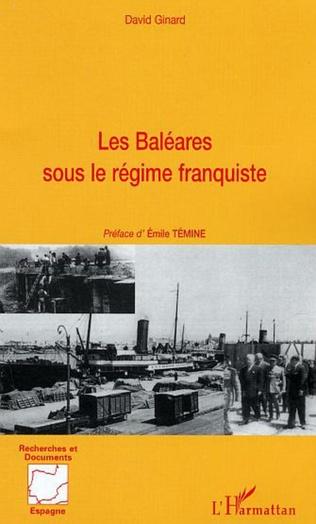 Couverture Les baléares sous le régime franquiste