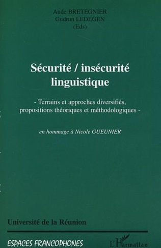 Couverture SECURITE, INSECURITE LINGUISTIQUE