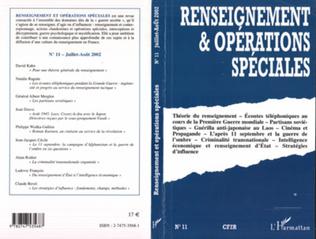 Couverture RENSEIGNEMENT ET OPÉRATIONS SPÉCIALES n°11