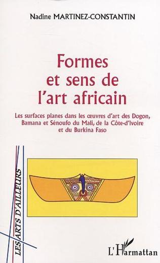 Couverture Formes et sens de l'art africain