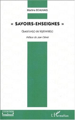 Couverture SAVOIRS-ENSEIGNES