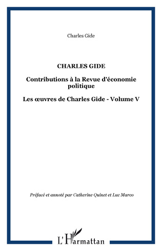 Couverture CHARLES GIDE