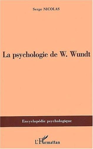 Couverture PSYCHOLOGIE DE W.Wundt (1832-1920)