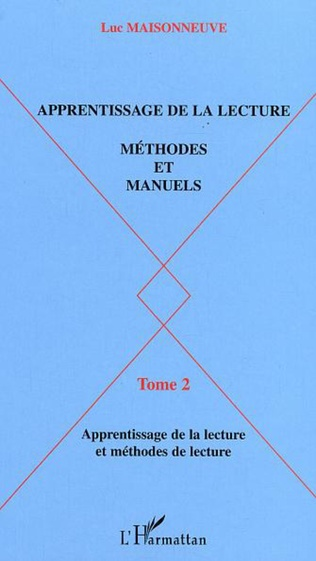 Couverture APPRENTISSAGE DE LA LECTURE