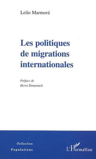 Couverture LES POLITIQUES DE MIGRATIONS INTERNATIONALES