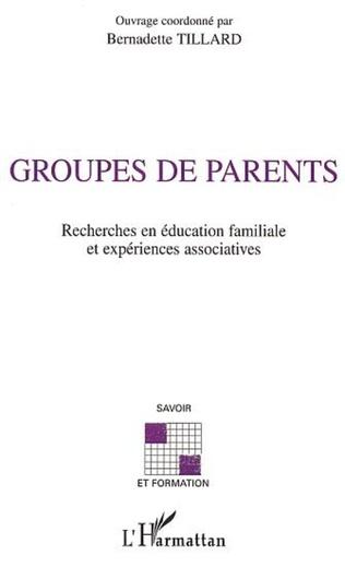 Couverture GROUPES DE PARENTS