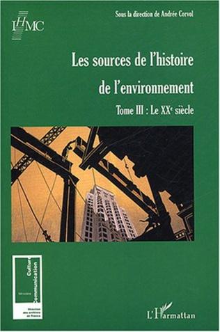 Couverture Les sources de l'histoire de l'environnement
