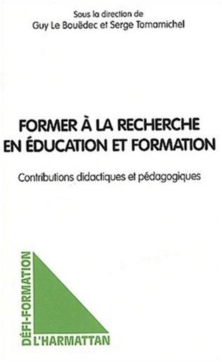 Couverture Former à la recherche en éducation et formation