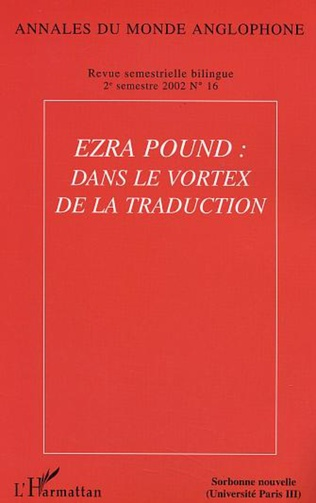 Couverture Ezra Pound : dans le vortex de la traduction