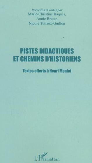 Couverture PISTES DIDACTIQUES ET CHEMINS D'HISTORIENS