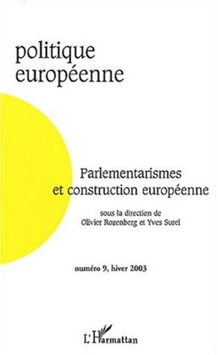 Couverture Parlementarismes et construction européenne