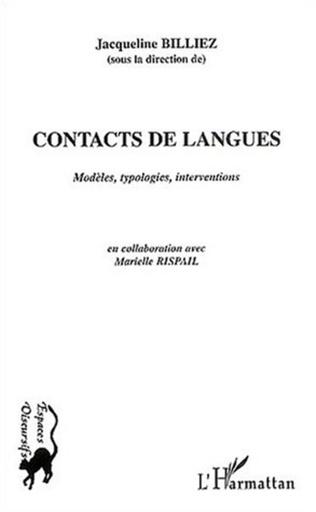 Couverture Contacts de langues