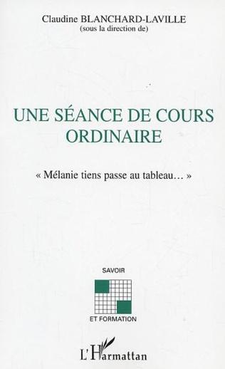 Couverture SEANCE DE COURS ORDINAIRE (UNE)