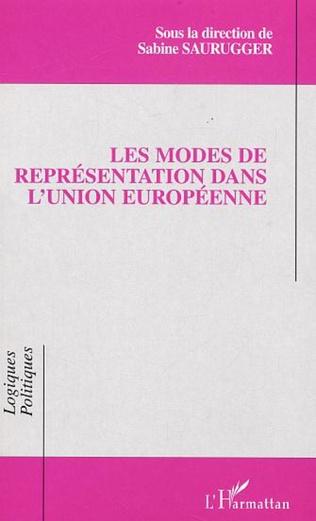 Couverture Les modes de représentation dans l'Union européenne