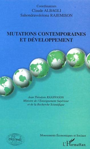 Couverture Mutations contemporaines et développement