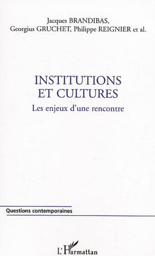 Couverture Institutions et cultures