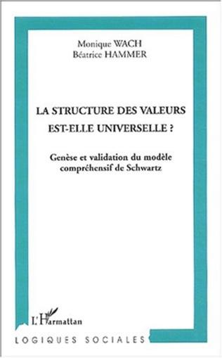 Couverture La structure des valeurs est-elle universelle ?