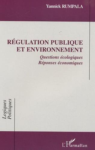 Couverture Régulation publique et environnement