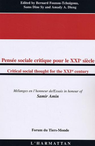 Couverture Pensée sociale critique pour le XXIè siècle/Critical social thought for the XXIst century