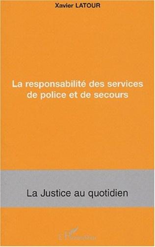 Couverture La responsabilité des services de police et de secours