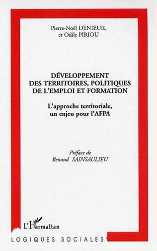 Couverture Développement des territoires, politiques de l'emploi et formation