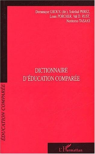 Couverture Dictionnaire d'éducation comparée