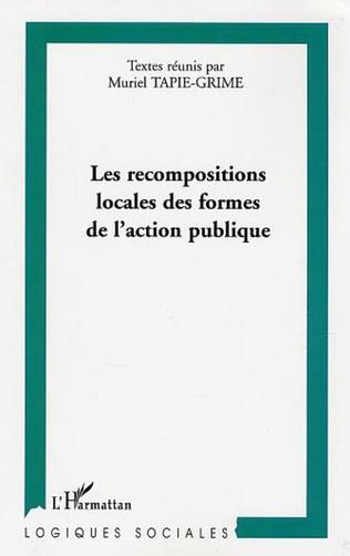 Couverture Les recompositions locales des formes de l'action publique