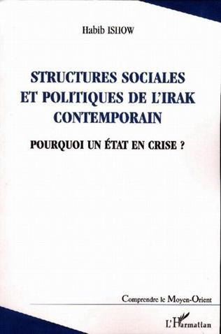 Couverture Structures sociales et politiques de l'Irak contemporain