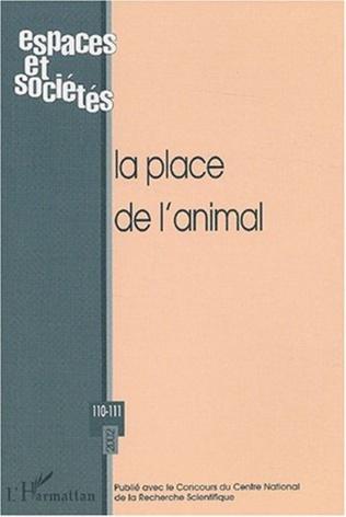 Couverture La place de l'animal