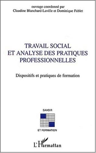 Couverture Travail social et analyse des pratiques professionnelles