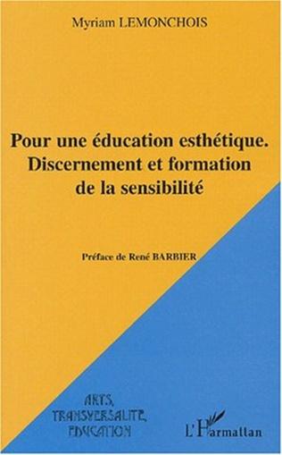 Couverture Pour une éducation esthétique