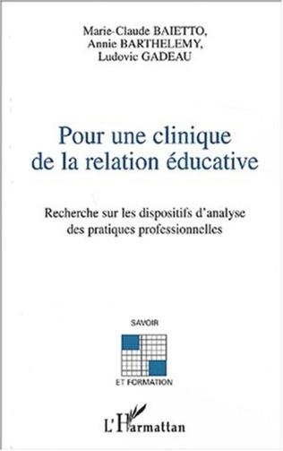 Couverture Pour une clinique de la relation éducative