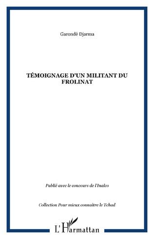 Couverture Témoignage d'un militant du FROLINAT
