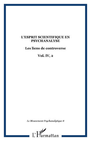 Couverture L'esprit scientifique en psychanalyse
