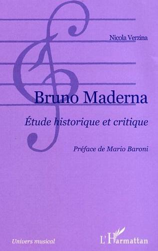 Couverture Bruno Maderna