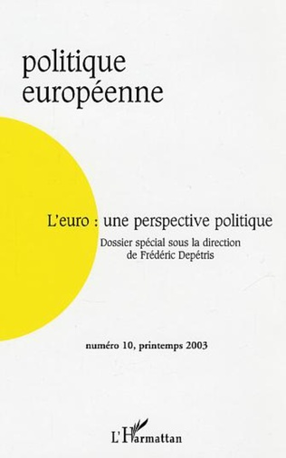 Couverture L'Euro : une perspective politique