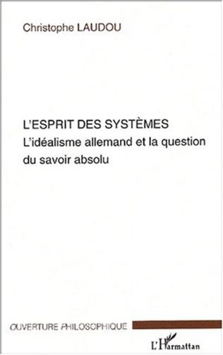 Couverture L'Esprit des systèmes