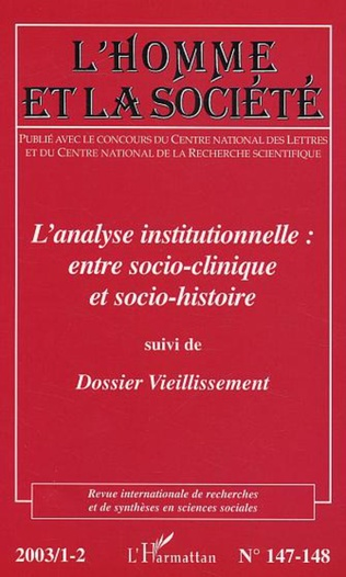 Couverture L'analyse institutionnelle