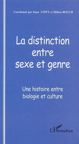 Couverture La distinction entre sexe et genre