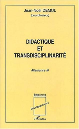 Couverture Didactique et transdisciplinarité