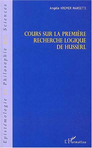 Couverture Cours sur la première recherche logique de Husserl