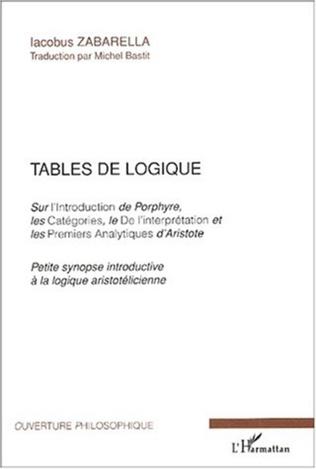 Couverture Tables de logique