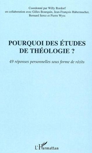Couverture Pourquoi des études de théologie?