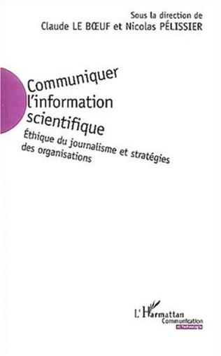 Couverture Communiquer l'information scientifique