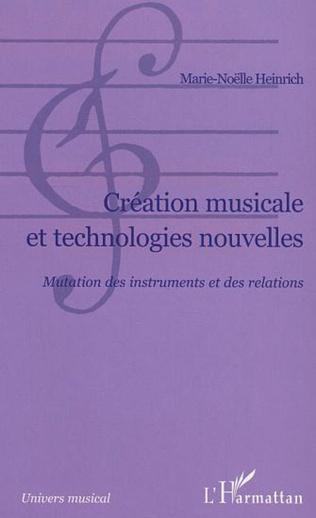 Couverture Création musicale et technologies nouvelles