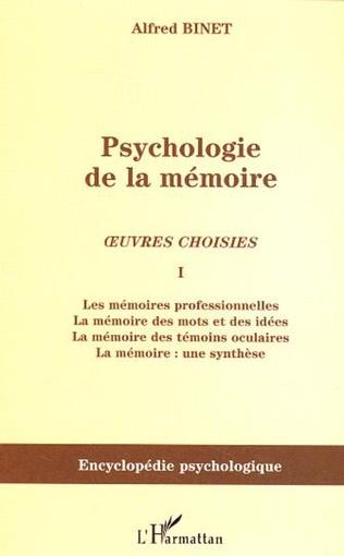 Couverture Psychologie de la mémoire